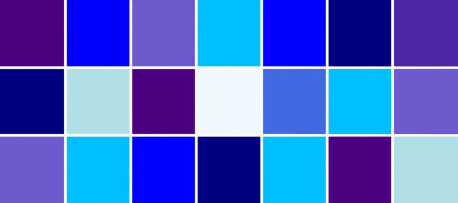رنگ آبی در کسب و کار سایت هنری فندق