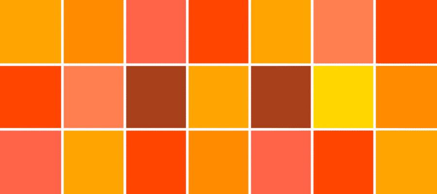 رنگ نارنجی در کسب و کار سایت هنری فندق