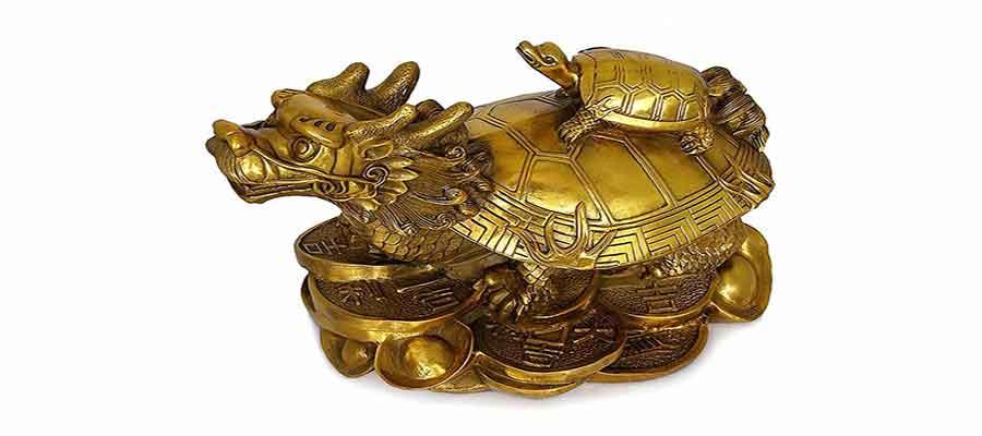 مجسمه اژدها و لاک پشت در فنگ شویی-سایت هنری فندق