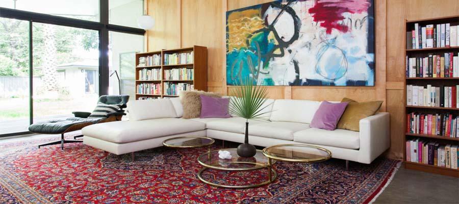 فرش دستباف ایرانی در دکوراسیون-سایت هنری فندق