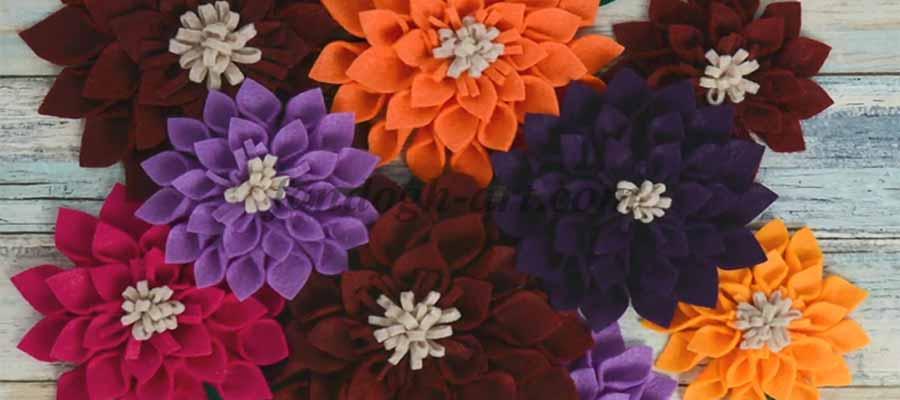 آموزش گل نمدی در سایت هنری فندق16