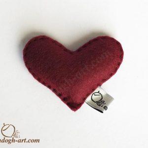 قلب نمدی دلسا-گیفت ولنتاین-سایت هنری فندق
